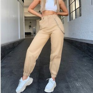 I AM GIA Woman's Beige Cargo Pant. Size Small.